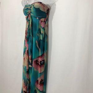 Xhilaration floral/hawaiian strapless maxi $22 OBO